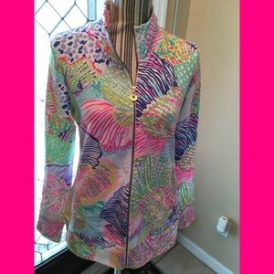Lilly Pulitzer Full Zipper Jacket